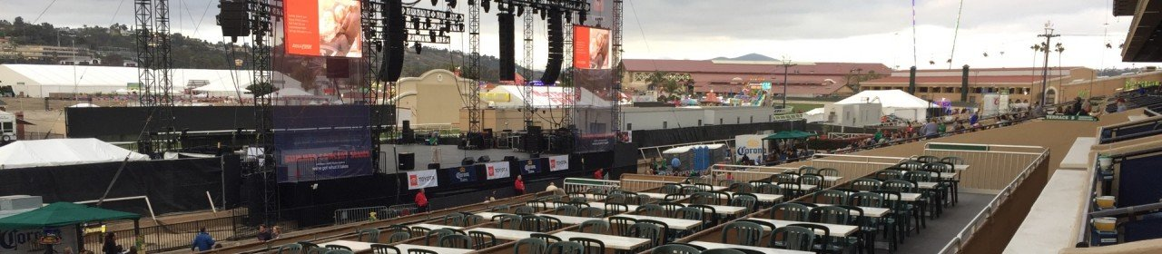 The Corona Grandstand Stage at the Del Mar Fairgrounds