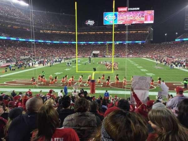 Levi's Stadium, secção: 103, fila: 17
