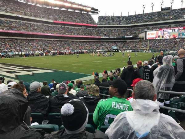 Lincoln Financial Field, secção: 134, fila: 11, lugar: 9
