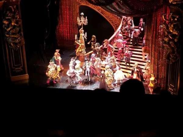 Majestic Theatre, secção: RMezz, fila: A, lugar: 2