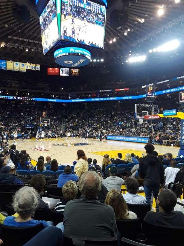 Oakland Arena, secção: 110, fila: 1, lugar: 3