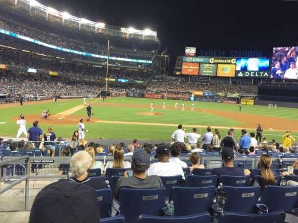 Yankee Stadium, secção: 117A, fila: 17, lugar: 16