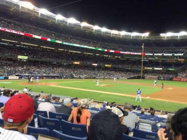 Yankee stadium, secção: 115, fila: 16, lugar: 1