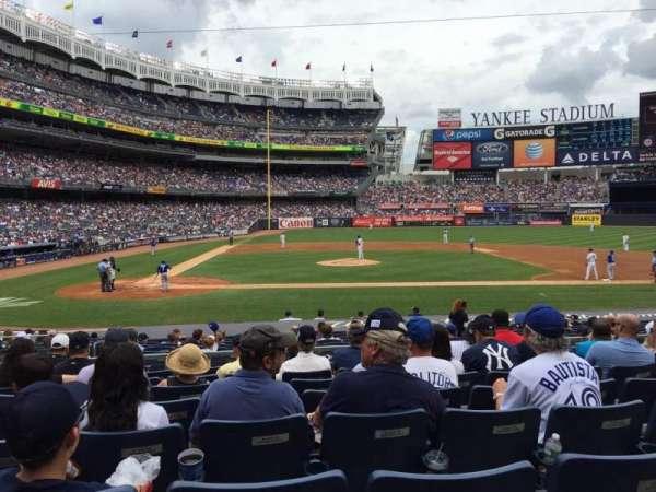 Yankee Stadium, secção: 117A, fila: 19, lugar: 12
