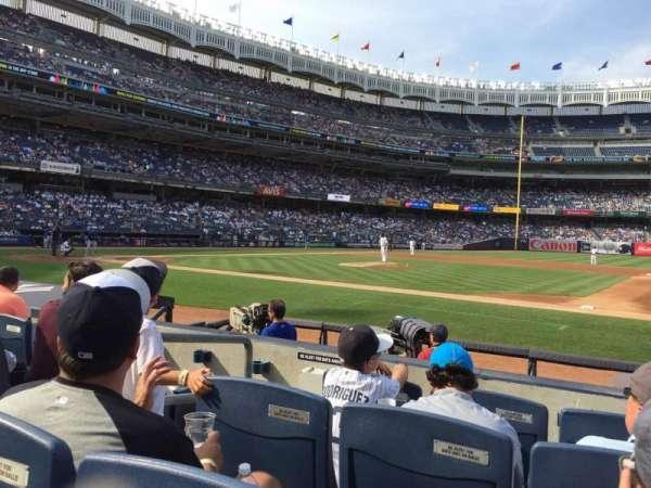 Yankee Stadium, secção: 015A, fila: 4, lugar: 8