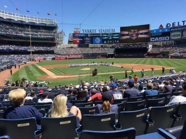 Yankee Stadium, secção: 118, fila: 13, lugar: 6