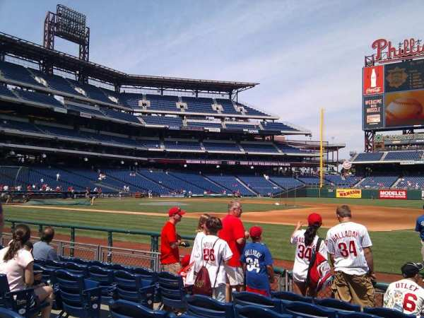 Citizens Bank Park, secção: 114, fila: 6, lugar: 6