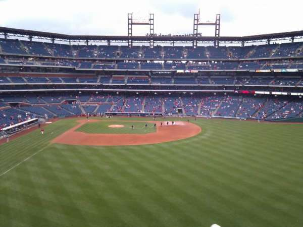 Citizens Bank Park, secção: 203, fila: 6, lugar: 16