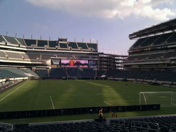 Lincoln Financial Field, secção: 128, fila: 18, lugar: 10