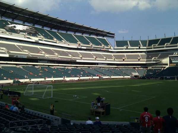 Lincoln Financial Field, secção: 132, fila: 16, lugar: 4