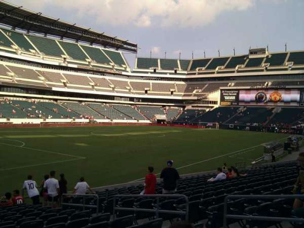 Lincoln Financial Field, secção: 134, fila: 15, lugar: 7