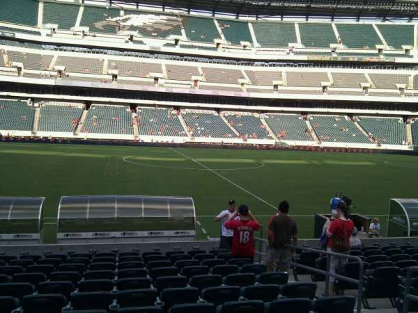 Lincoln Financial Field, secção: 138, fila: 12, lugar: 6
