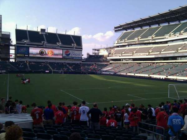 Lincoln Financial Field, secção: 108, fila: 14, lugar: 7