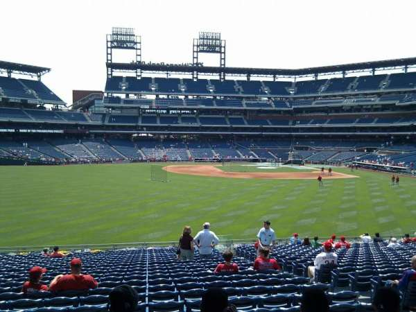 Citizens Bank Park, secção: 145, fila: 23, lugar: 7