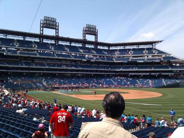 Citizens Bank Park, secção: 110, fila: 25, lugar: 10