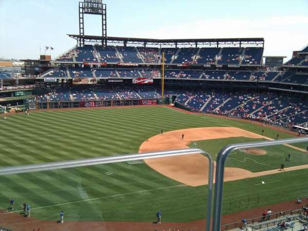 Citizens Bank Park, secção: 320, fila: 1, lugar: 16
