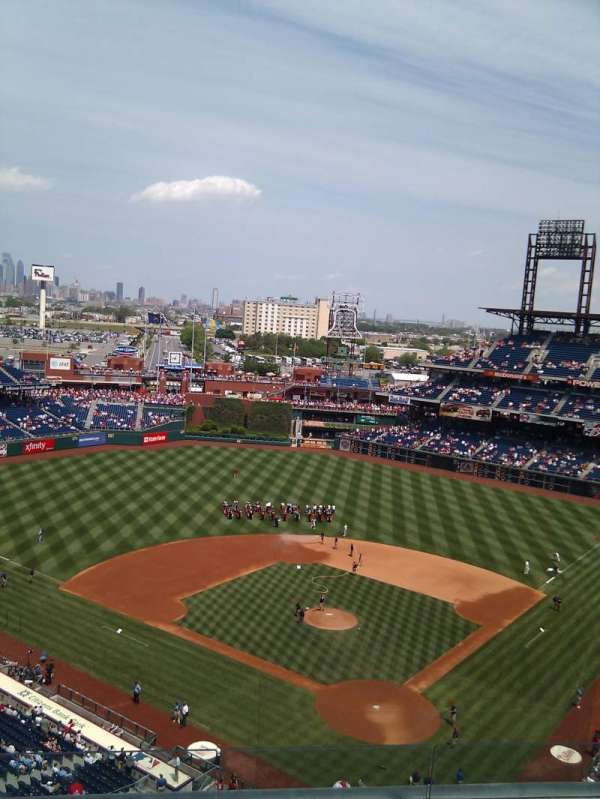 Citizens Bank Park, secção: 422, fila: 6, lugar: 11