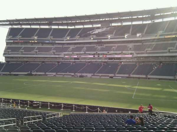 Lincoln Financial Field, secção: 123, fila: 23, lugar: 14