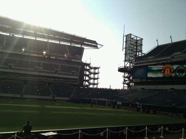 Lincoln Financial Field, secção: 121, fila: 3, lugar: 10