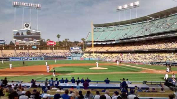 Dodger Stadium, secção: 19FD, fila: P, lugar: 3-4