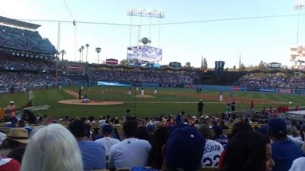 Dodger Stadium, secção: Field MVP 8, fila: L