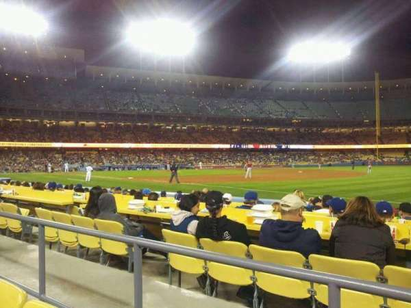 Dodger Stadium, secção: 36FD, fila: B