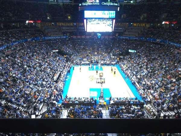 Chesapeake Energy Arena, secção: 316, fila: A, lugar: 3-4