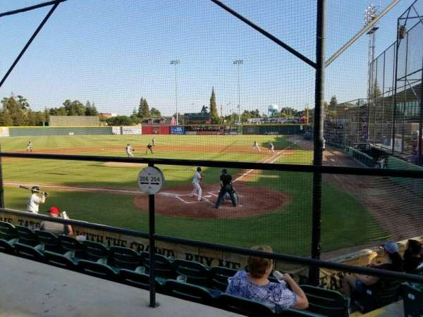 Rawhide Ballpark, secção: 204, fila: E, lugar: 3