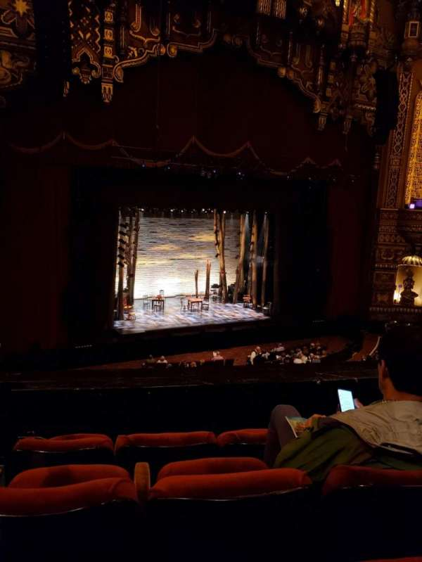 The Fabulous Fox Theatre (St. Louis), secção: Mezzanine 3, fila: DD, lugar: 27