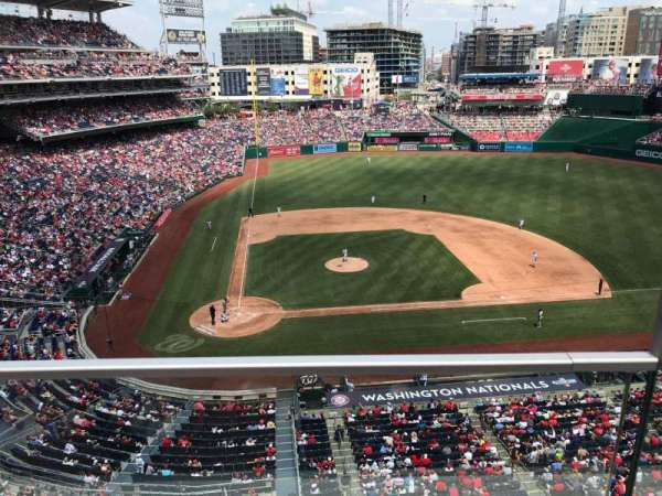 Nationals Park, secção: 317, fila: A, lugar: 1