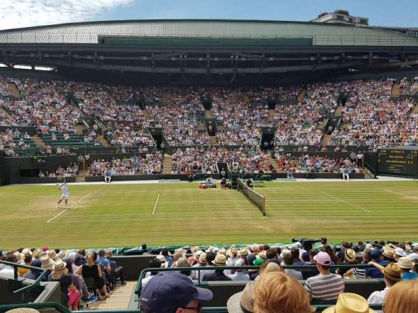 Wimbledon, Court No. 1, secção: Gangway 10, fila: D, lugar: 85