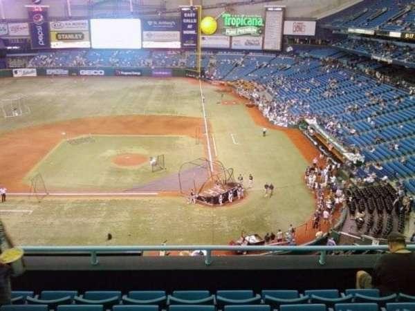 Tropicana Field, secção: 307, fila: J, lugar: 7