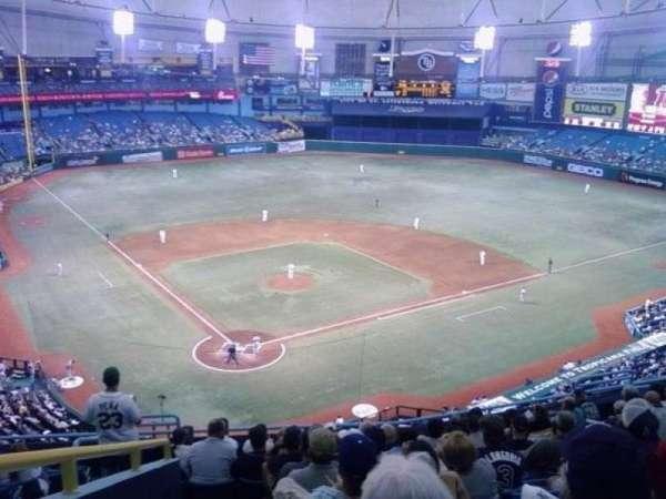 Tropicana Field, secção: 300, fila: Y, lugar: 14