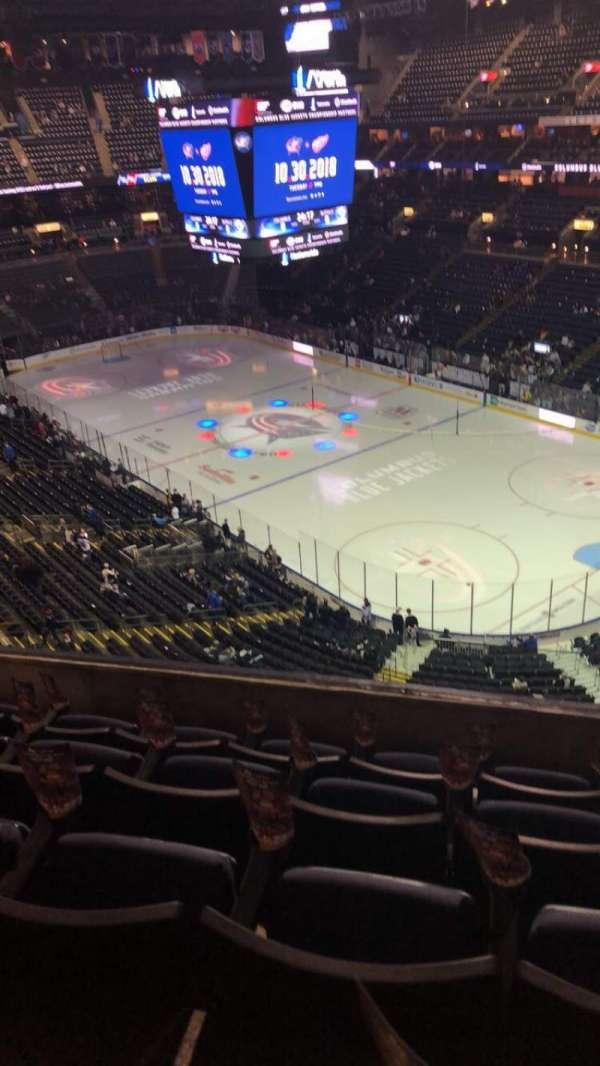 Nationwide Arena, secção: 213, fila: E, lugar: 9