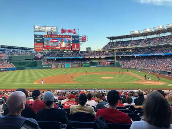 Nationals Park, secção: 117, fila: RR, lugar: 15