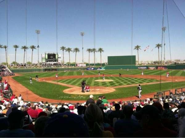 Goodyear Ballpark, secção: 114, fila: W, lugar: 3