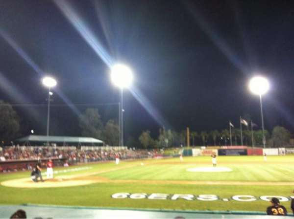 San Manuel Stadium, secção: 110, fila: G, lugar: 1