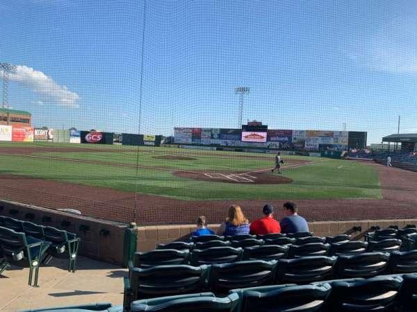 GCS Credit Union Ballpark, secção: 114, fila: G, lugar: 7