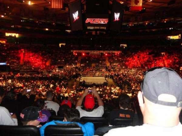 Madison Square Garden, secção: 117, fila: 17, lugar: 6