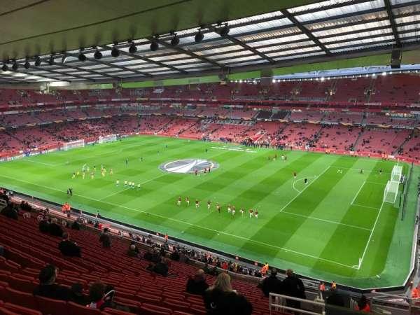 Emirates Stadium, secção: 109, fila: 20, lugar: 509