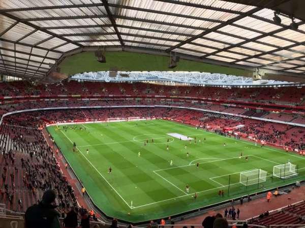 Emirates Stadium, secção: 105, fila: 19, lugar: 410