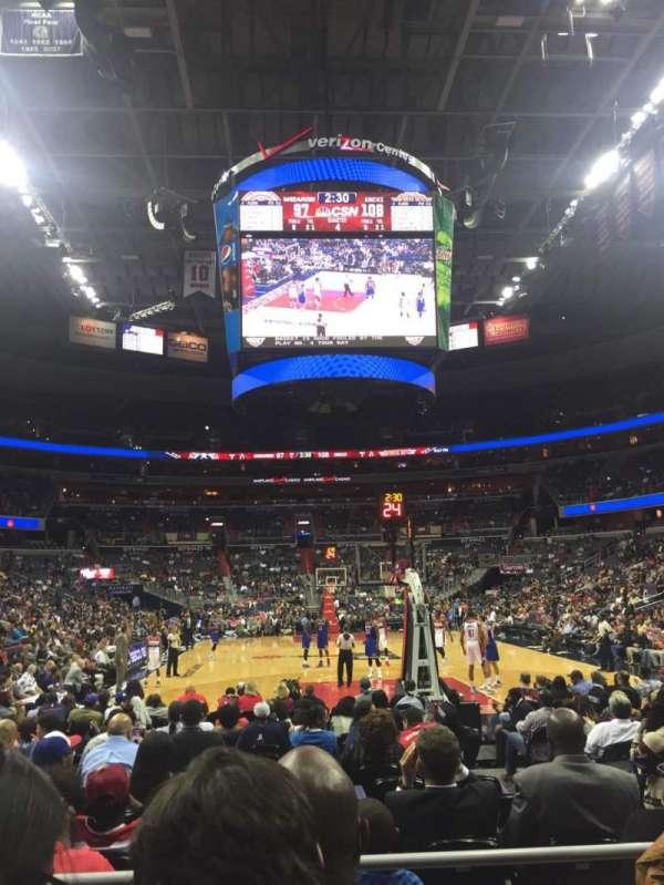 Capital One Arena, secção: 105, fila: C, lugar: 7