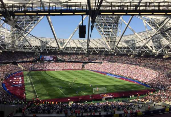 London Stadium, secção: 219, fila: 61, lugar: 96