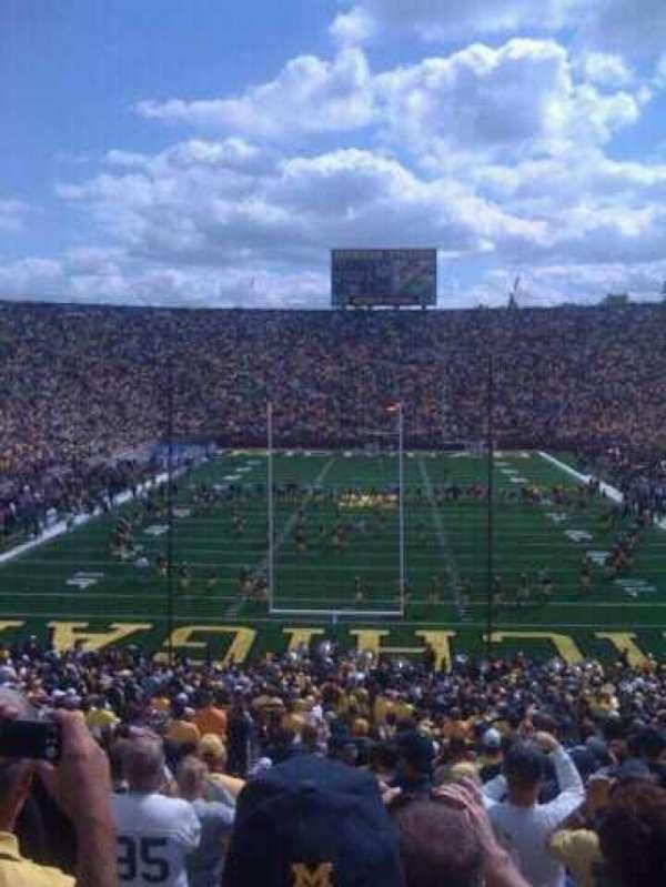 Michigan Stadium, secção: 34, fila: 50
