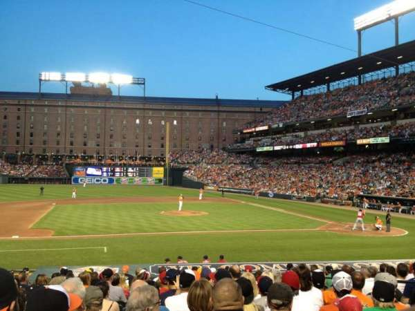 Oriole Park at Camden Yards, secção: 52, fila: 15, lugar: 6