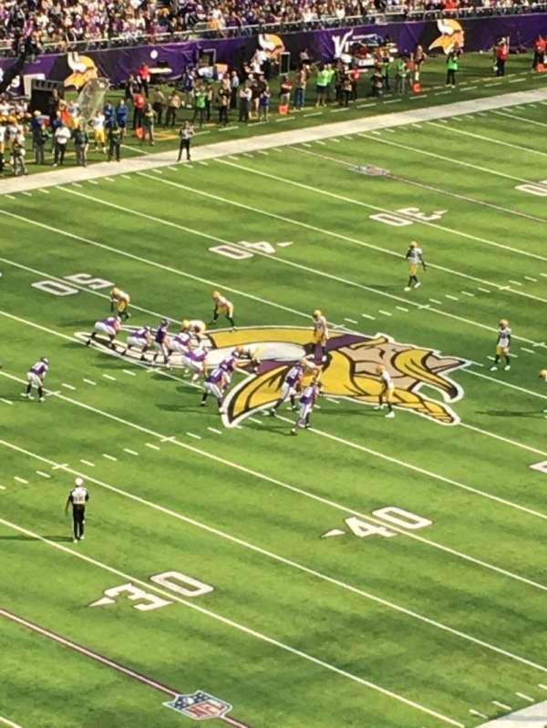 U.S. Bank Stadium, secção: 347, fila: B, lugar: 5