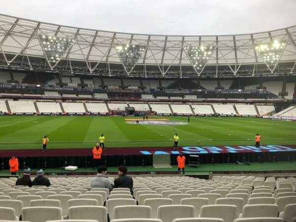 London Stadium, secção: 134, fila: 18, lugar: 294