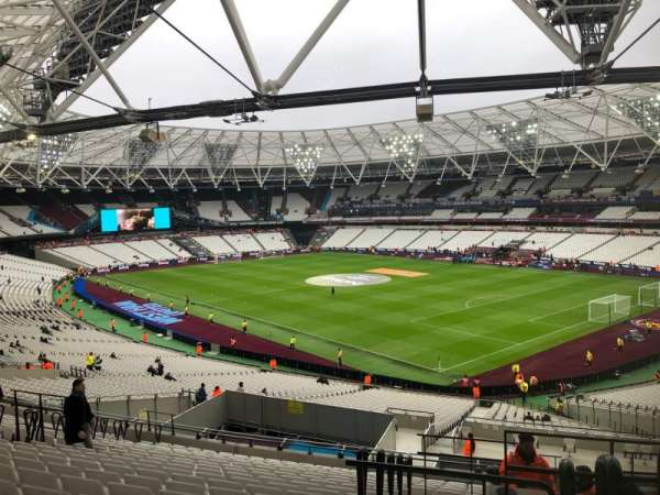 London Stadium, secção: 243, fila: 48, lugar: 218