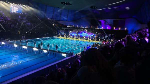 London Aquatics Centre, secção: F, fila: 8, lugar: 163