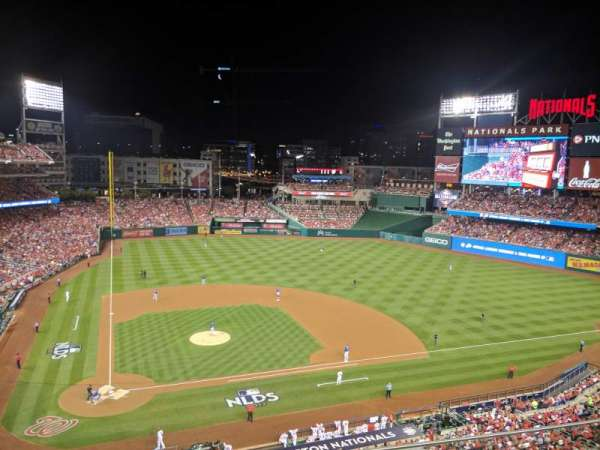 Nationals Park, secção: 317, fila: C, lugar: 7